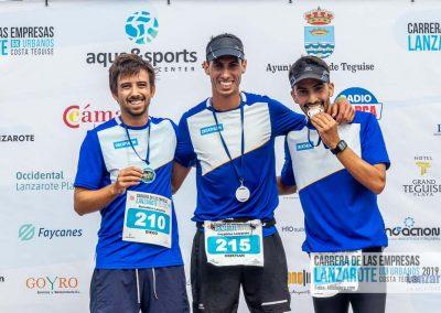 Podium y PhotoCall Carrera Empresas Lanzarote 2019 Fotos Alsolajero.com-28